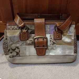 Vintage Coach Patchwork Bag